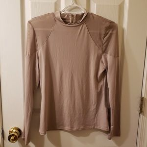 Nude long sleeve blouse